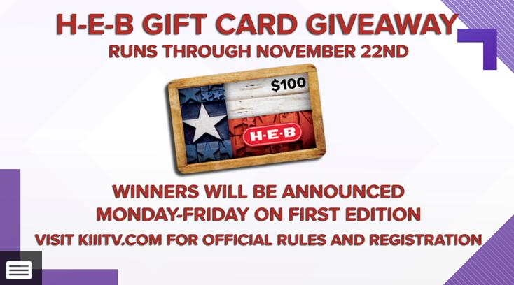 H-E-B $100 Giftcard Giveaway – Enter To Win $100 Gift Card