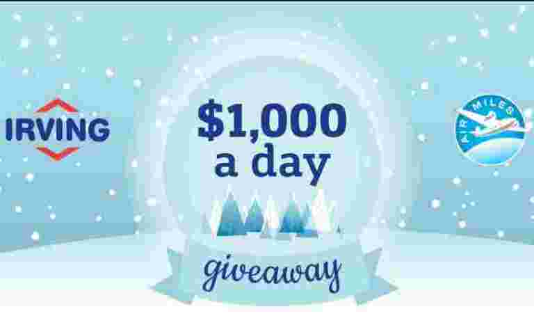 Irving Oil $1,000 A Day Giveaway