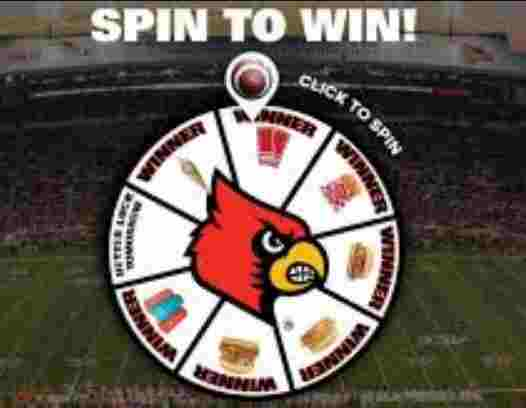 Louisville Rally's Spin to Win Instant Win Game