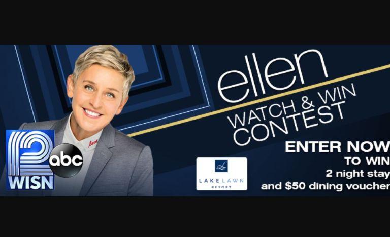 WISN Ellen Watch & Win Contest Sweepstakes