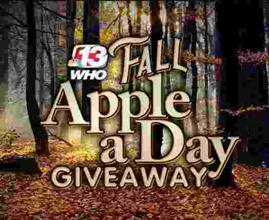 WhoTV Channel 13 Fall Apple A Day Giveaway