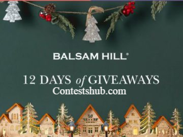 Balsam Hill 12 Days of Giveaways Sweepstakes