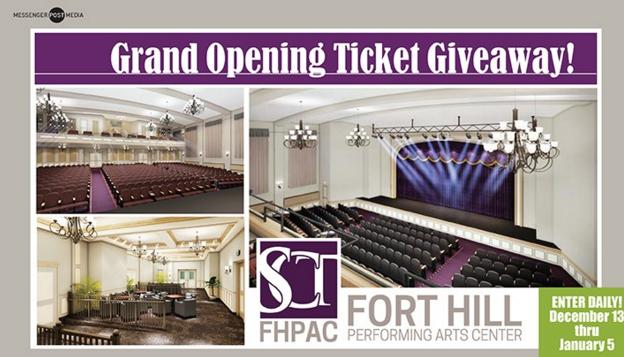 Arts Center Grand Opening Ticket Giveaway