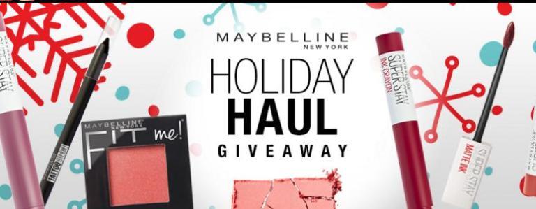 Maybelline Holiday Haul Sweepstakes
