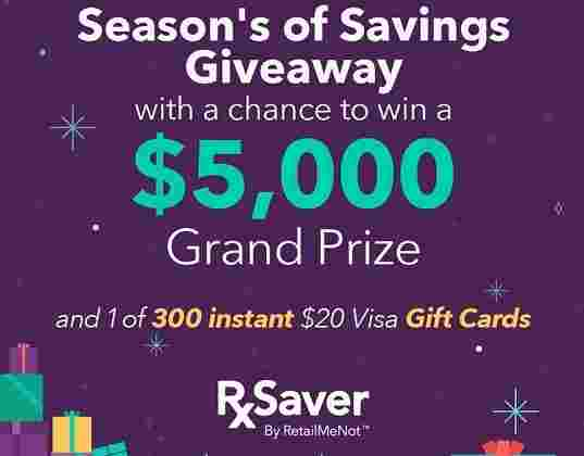 RxSaver Season's Savings Giveaway
