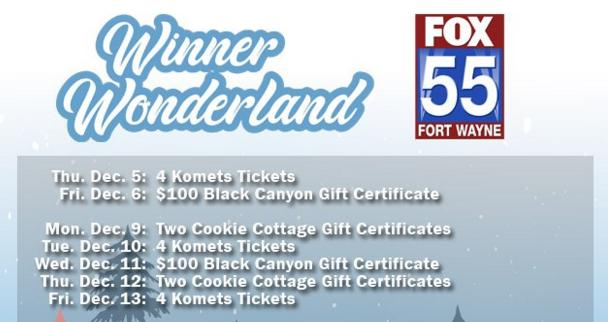 FOX 55 Winner Wonderland Sweepstakes