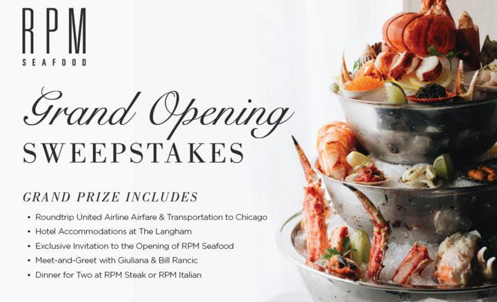 RPM Seafood Grand Opening Giveaway