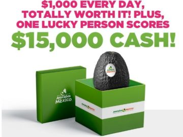 Avocados From Mexico $1000 a Day Sweepstakes