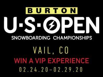 Burton US Open Snowboarding Sweepstakes