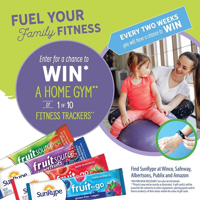 Fuel Your Family Fitness Sweepstakes