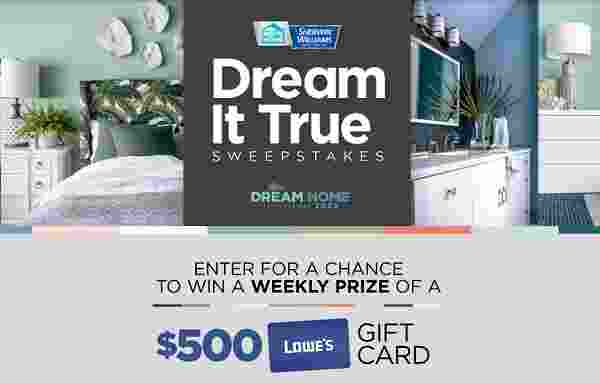 HGTV Sherwin Williams Dream It True Sweepstakes
