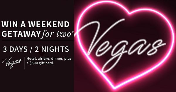 Rogers Heart Set on Vegas Sweepstakes