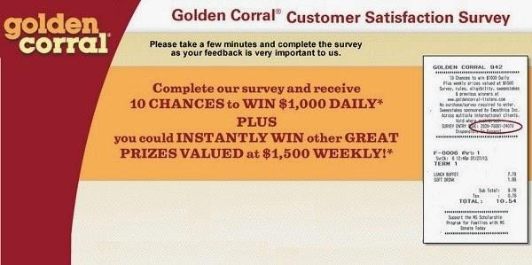 Golden Corral Listens in Feedback Survey