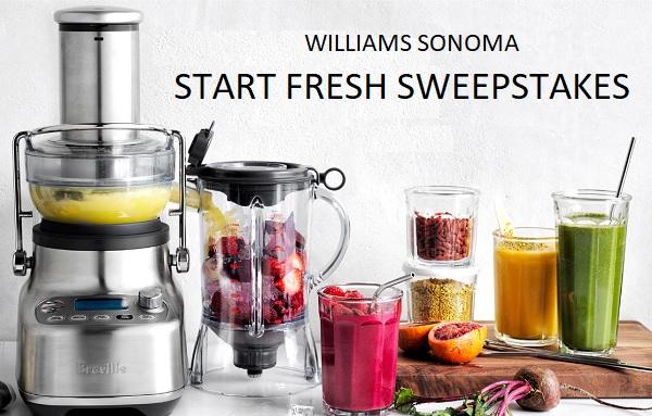 Williams Sonoma Start Fresh Giveaway