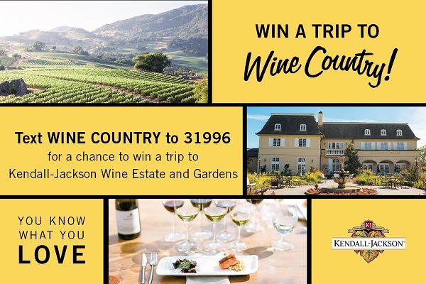 Kendall-Jackson Wine Country Getaway Sweepstakes