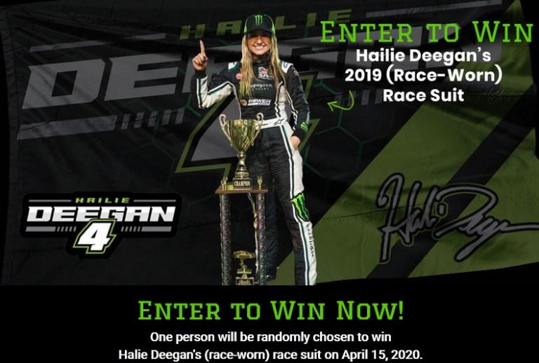 Hailie Deegan Race Suit Giveaway