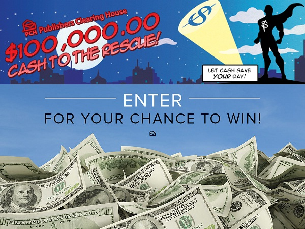 PCH.com $100000 Cash to the Rescue Giveaway