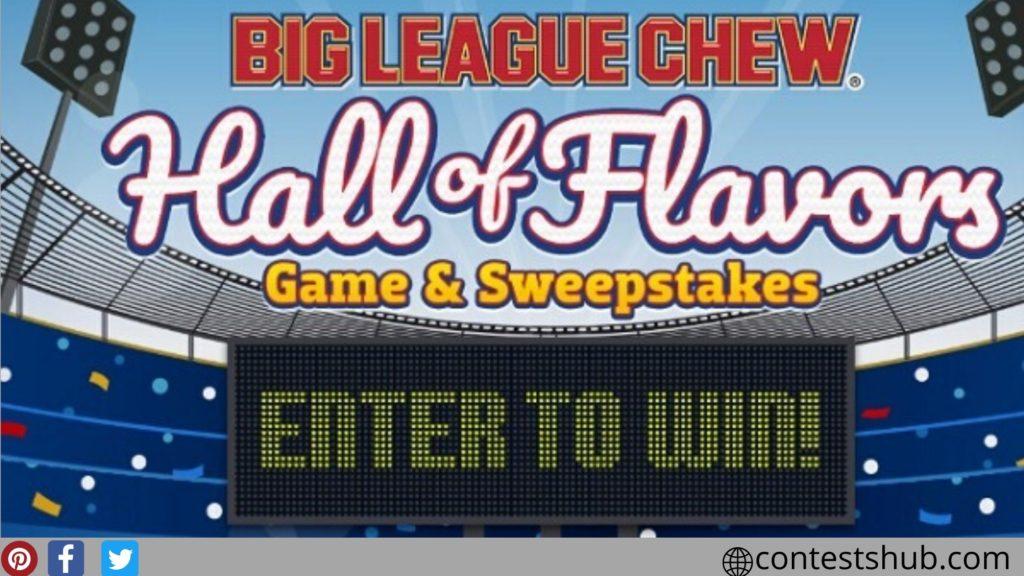 Big League Chew Hall of Flavors IWG and Sweepstakes