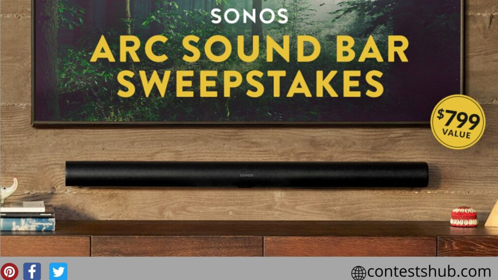 Worldwide Stereo Sonos Arc Sound Bar Sweepstakes