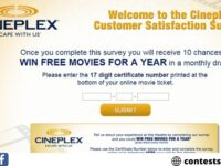 Take Cineplex Customer Survey