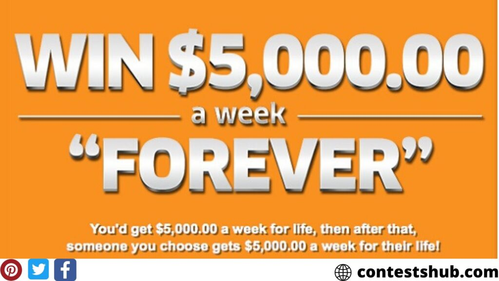 PCH $7,000 A Week For Life Sweepstakes 2020