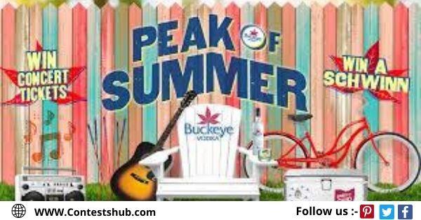Buckeye Vodka Peak Of Summer Sweepstakes