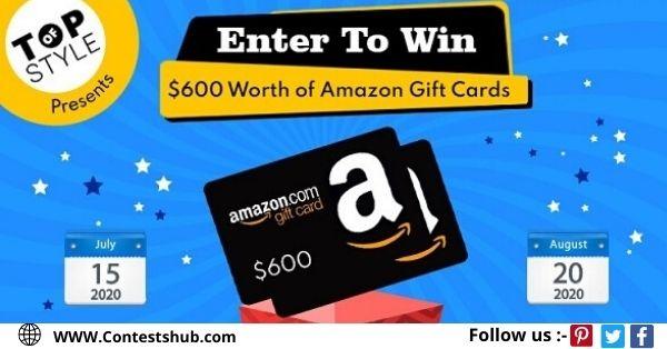 Topofstyle $600 Amazon Gift Card Sweepstakes 2020