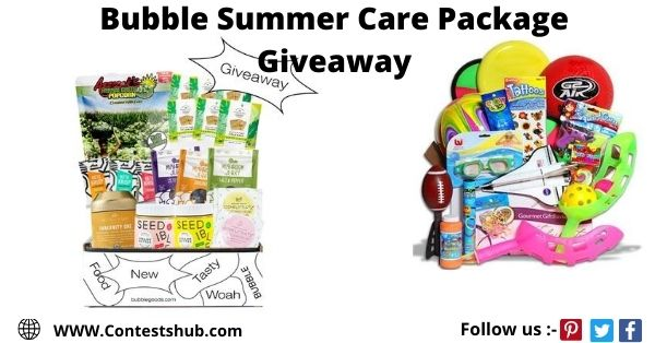 Bubble Summer Care Package Giveaway