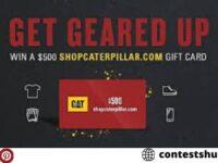 Caterpillar Gift Card Giveaway