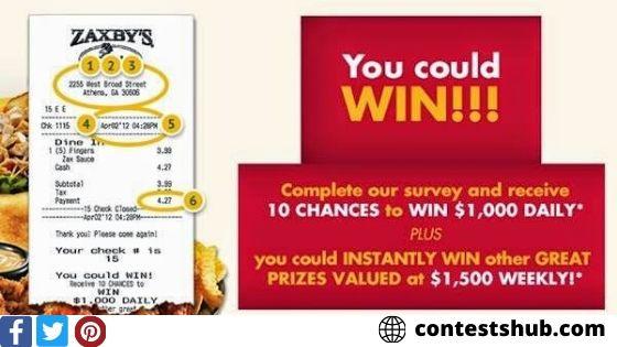 Tell Zaxbys' Feedback in My Zaxbys Visit Survey