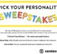 Eureka School Pick Your Personality Sweepstakes