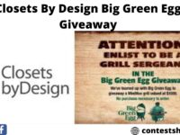 Closets By Design Big Green Egg Giveaway
