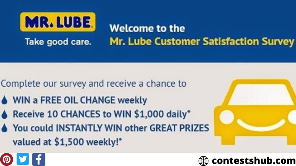 Tell Mr.Lube Customer Satisfaction Survey