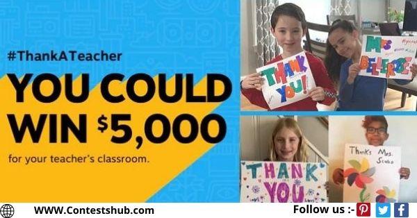 Staples Thanks a Teacher Sweepstakes 2020