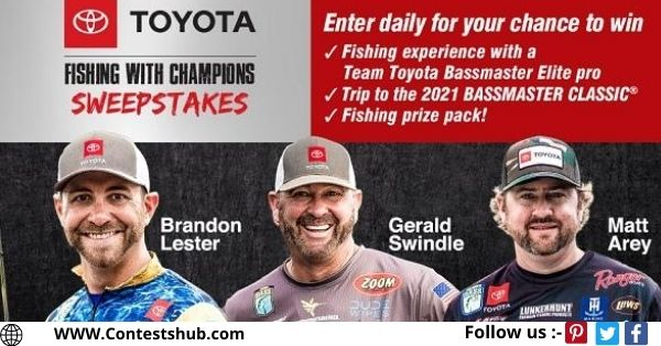 Bassmaster Toyota Fishing Sweepstakes 2020