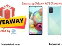Get Connected Samsung Galaxy A71 Smartphone Giveaway