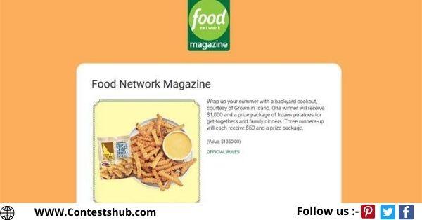 Food Network Magazine Potato Sweepstakes
