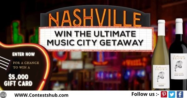 The Z. Alexander Brown Wines Ultimate Music City Getaway Sweepstakes