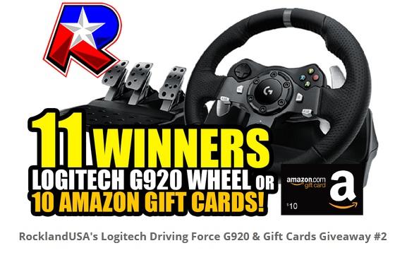 Rockland USA Logitech G920 Wheel Set Giveaway