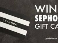 Sephora Gift Card Instant Win Giveaway