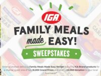 IGA Family Meals Recipe Sweepstakes