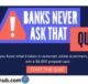 The ABA BanksNeverAskThat Quiz Sweepstakes