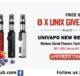 8x UNIX Starter Kit Univapo Giveaway