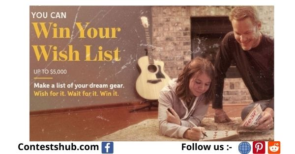Sweetwater.com Win Your Wish List Music Giveaway