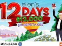 Ellenshop.com 12 Days of Sweepstakes