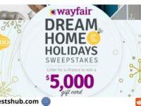 HGTV Wayfair Dream Home for the Holidays Sweepstakes