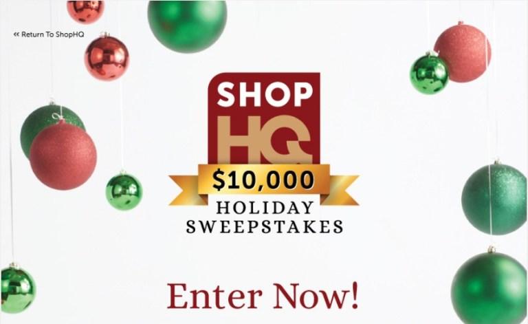 ShopHQ $10000 Holiday Sweepstakes - Shophq.com