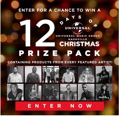 Universal Music 12 Days Of Christmas Sweepstakes