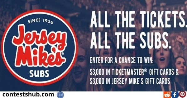 Jersey Mike's Tickets & Subs Sweepstakes